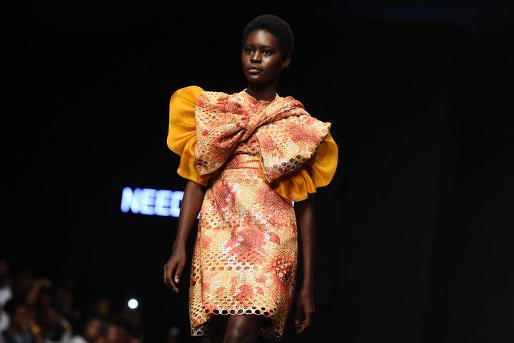NeedlePoint à la Lagos Fashion Week, octobre 2018  (PIUS UTOMI EKPEI / AFP)