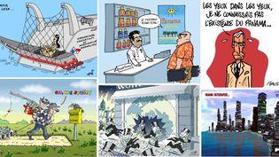 """Les """"Panama Papers"""" ont inspiré des dessinateurs de presse du monde entier. (TWITTER)"""