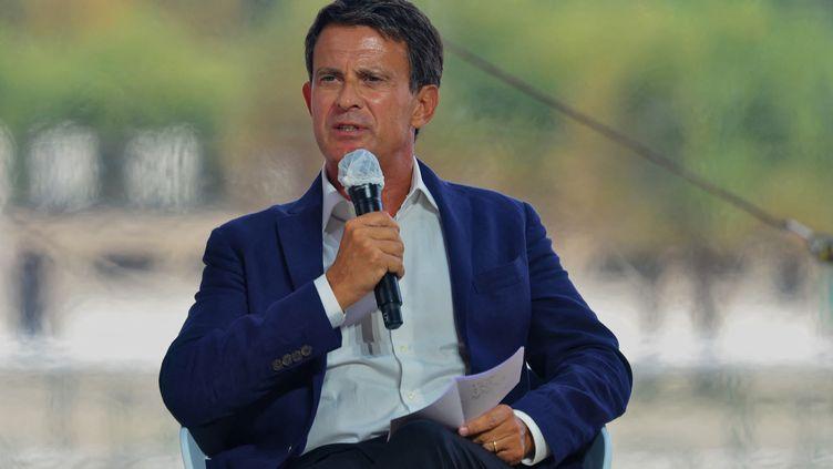 L'ancien Premier ministre Manuel Valls lors d'une conférence du Medef à Paris, le 27 août 2020. (DANIEL PIER / NURPHOTO / AFP)