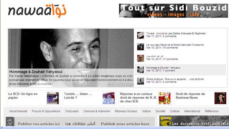 Le Prix du Net-Citoyen a été attribué par RSF à Astrubal cofondateur du blog tunisien Nawaat. (Nawaat)
