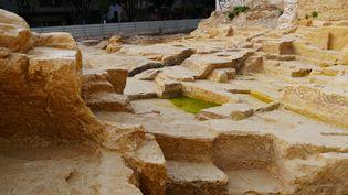 L'antique carrière grecque découverte à Marseille, boulevard de la Corderie  (Citizenside / Hugo Lara / AFP)