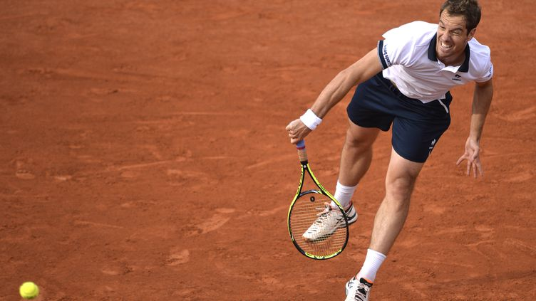 Raichard Gasquet à Roland Garros, le 28 mai 2015. (MIGUEL MEDINA / AFP)