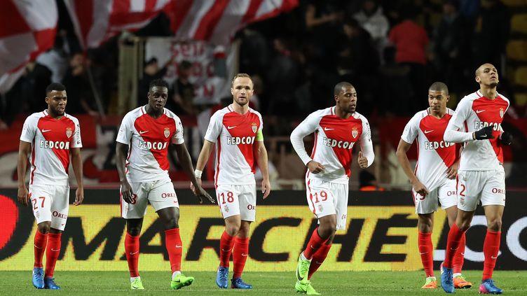 Après sa défaite face à Manchester City (3-5) le 21 février dernier, l'AS Monaco a enchaîné trois succès en trois matchs contre Guingamp, Marseille (en Coupe de France) et Nantes. (VALERY HACHE / AFP)