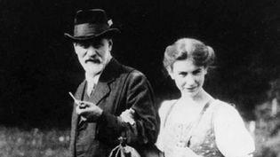 Sigmund Freud et sa fille Anna.  (DR)