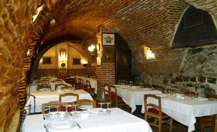 La salle voûtée du restaurant Botín, à Madrid. (RESTAURANT BOTÍN)