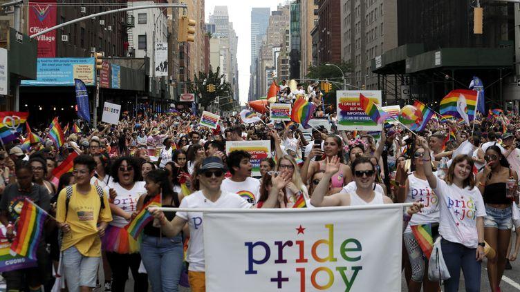 La gay pride de New York, ici en 2018. (JASON SZENES / MAXPPP)