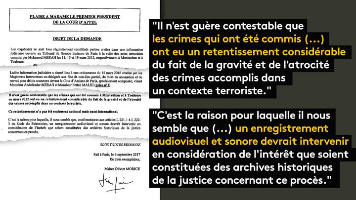 Maître Olivier Morice a adressé un courrier à la présidente de la Cour d'appel pour demander l'enregistrement du procès. (FRANCEINFO)