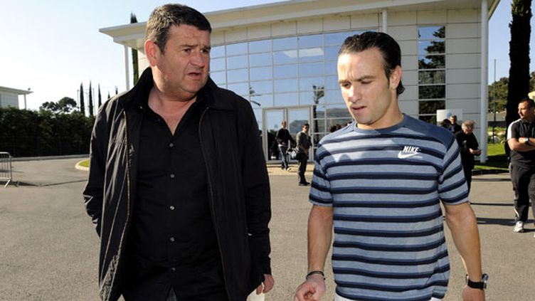 Mathieu Valbuena aux côtés de son ancien agent Christophe Hutteau
