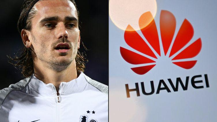 Le footballeur français Antoine Griezmanna rompu son contrat avec le géant de la téléphonie chinois Huaweï. (JONATHAN NACKSTRAND / AFP)