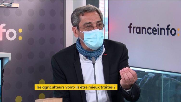Serge Papin, ancien PDG de Système U, invité de franceinfo le 24 mars 2021. (FRANCEINFO)