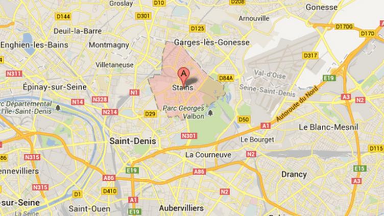 Les suspects ont été interpellés à Stains (Seine-Saint-Denis), Trappes (Yvelines) et Roissy-en-Brie (Seine-et-Marne), lundi 24 juin 2013. ( GOOGLE MAPS / FRANCETV INFO )
