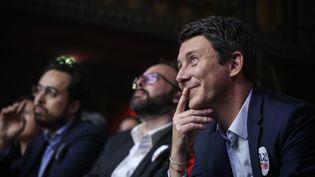 Benjamin Griveaux (au premier plan), le 29 janvier 2019 à Paris. (HAMILTON / REA)