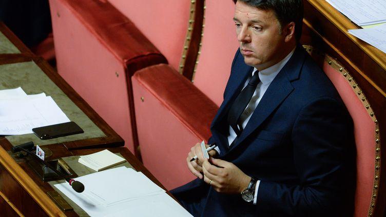 L'ancien chef du gouvernement italien, Matteo Renzi, lors d'un vote au Sénat, à Rome, le 5 juin 2018. (SILVIA LORE / NURPHOTO / AFP)