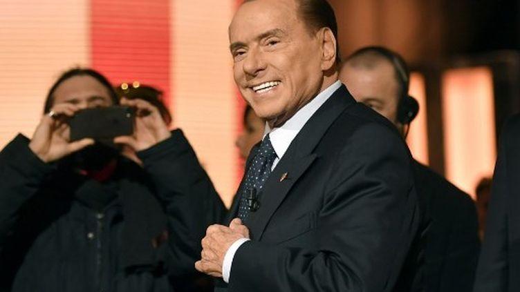 Silvio Berlusconi, ancien président du Conseil italien, le 4 janvier 2018, aura 82 ans en septembre prochain. (ANDREAS SOLARO / AFP)