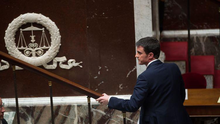 Le Premier ministre Manuel Valls, le 8 avril à l'Assemblée nationale pour son premier discours de politique générale. (LCHAM / SIPA)