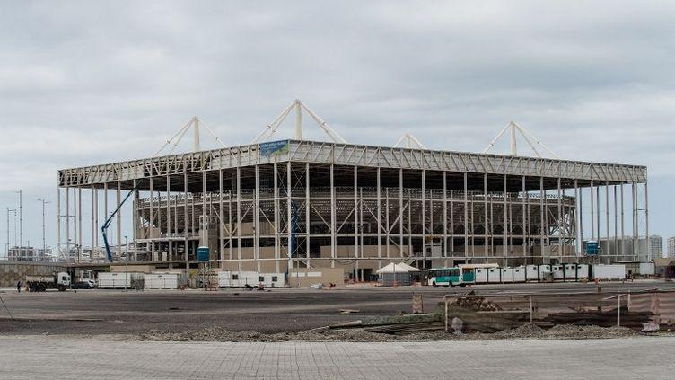 Le stade aquatique du Parc Olympique de Rio (YASUYOSHI CHIBA / AFP)