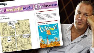 Zep et son blog sur le Monde.fr  (AFP PHOTO / THOMAS SAMSON - )