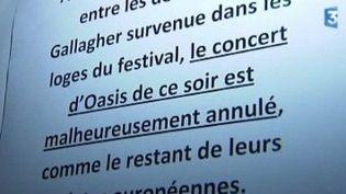Les spectateurs de Rock en Seine 2009 privés d'Oasis  (Culturebox)