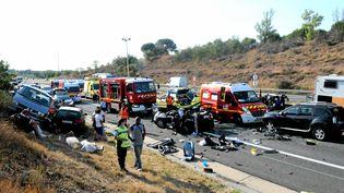 L'accident a fait un mort et un blessé grave. (NATHALIE AMEN VALS / MAXPPP)