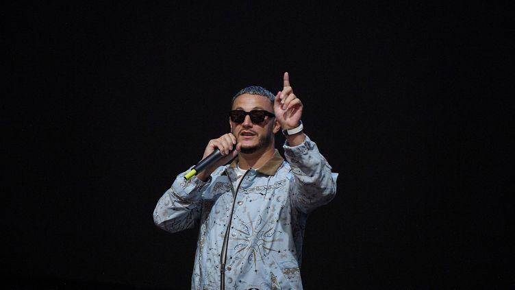 """Le Français William Grigahcine aliasDJ Snake au Pathé La Villette (Paris, France) pour la première de """"DJ Snake : Le concert au cinéma"""", le 25 août 2020. (PASCAL LE SEGRETAIN / GETTY IMAGES EUROPE)"""