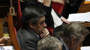 François Fillon à l'Assemblée nationale, en décembre 2016. (PATRICK KOVARIK / AFP)