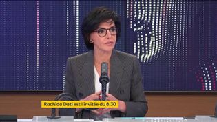 Rachida Dati était l'invitée de franceinfo jeudi 29 avril. (FRANCEINFO / RADIOFRANCE)