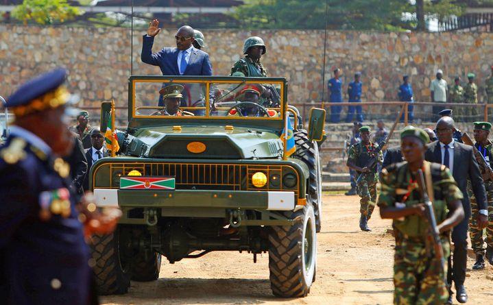 Le président Pierre Nkurunziza lors des cérémonies marquant le 55e anniversaire de l'indépendance du Burundi, le 1er juillet 2017, à Bujumbura, la capitale du pays. (REUTERS/Evrard Ngendakumana)