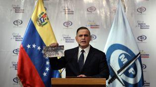 Le procureur général du Venezuela, Tarek William Saab, à Caracas, le 8 mai 2020. (MANAURE QUINTERO / REUTERS)