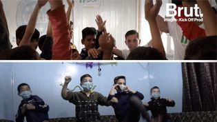 VIDEO. Dans un camp jordanien, il forme les enfants au kick-boxing (BRUT)