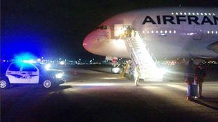 Le vol 65 d'Air France au départ de Los Angeles pour Paris s'est posé à Salt Lake Cityt, le 17 novembre 2015. (AFP)