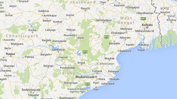 Les Etats indiens du Bihar et du Jharkhand ont été frappés par des orages qui ont fait au moins 32 morts, dimanche 6 octobre 2013. (GOOGLEMAPS / FRANCETV INFO)