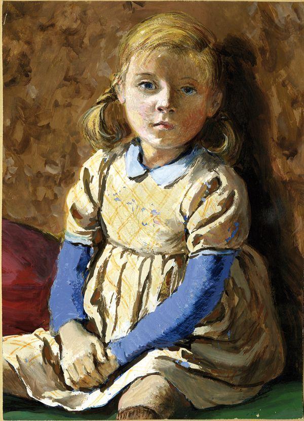 Portrait de Simone Probst, gouache, 1947  (Pierre Probst)