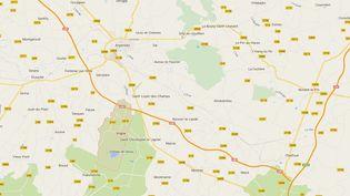 L'accident d'avion a eu lieu sur la commune deVrigny, près d'Argentan (Orne), le 11 mars 2015. (GOOGLE MAPS)