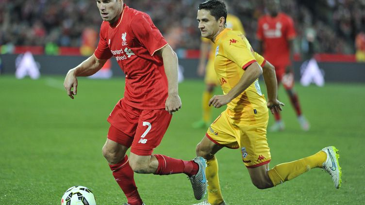 James Milner (Liverpool) face à Adelaïde (DAVID MARIUZ / AFP)