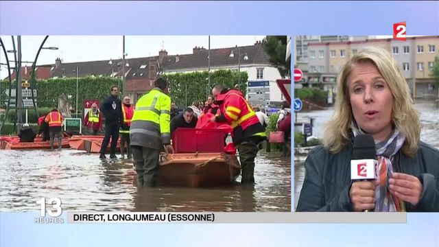 """Inondations : """"2 500 foyers privés d'électricité à Longjumeau"""""""