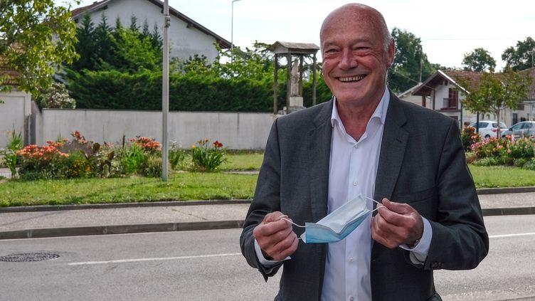Le président sortant de Nouvelle-Aquitaine, Alain Rousset, le 20 juin 2021, à Pessac (Gironde). (PIERRE DENIS / AFP)