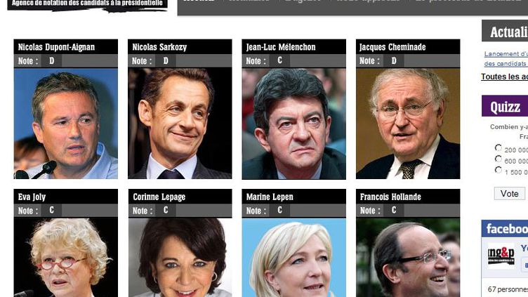 Quel candidat est le mieux noté par la nouvelle agence de notation ? (DR)