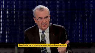 Le gouverneur de la Banque de France était l'invité du 8h30 franceinfo mardi 19 octobre. (FRANCEINFO / RADIOFRANCE)