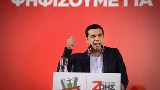 Alexis Tsipras, le leader du parti de la gauche radicale Syriza, en mai 2014 à Athènes (Grèce). (CITIZENSIDE / CHRISTOS STAMOS / AFP)