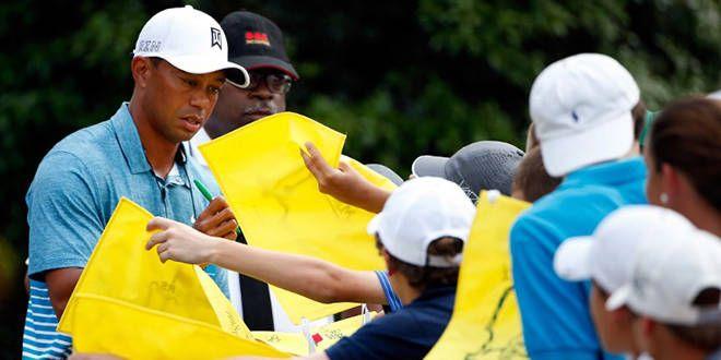 Tiger Woods très sollicité au Masters d'Augusta