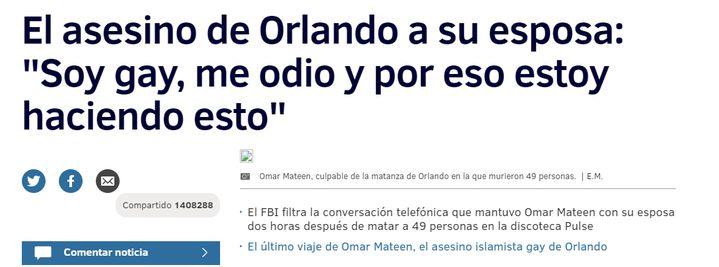 (Le quotidien El Mundo s'est fait avoir par la fausse conversation © Capture d'écran El Mundo)