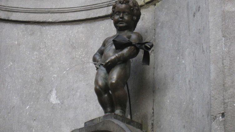 Une copie du véritableManneken Pis, à Bruxelles (Belgique), le 16 mars 2012. (AP / SIPA / AP)