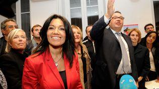La sénatrice PS Samia Ghali, et le député socialiste Patrick Menucci, le 14 octobre 2013 à Marseille (Bouches-du-Rhône). (  MAXPPP)