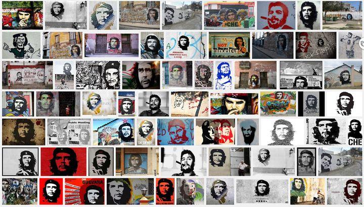 """Capture d'écran des résultats affichés par Google images à la suite de la requête """"Che Guevara graffiti"""". (DR)"""