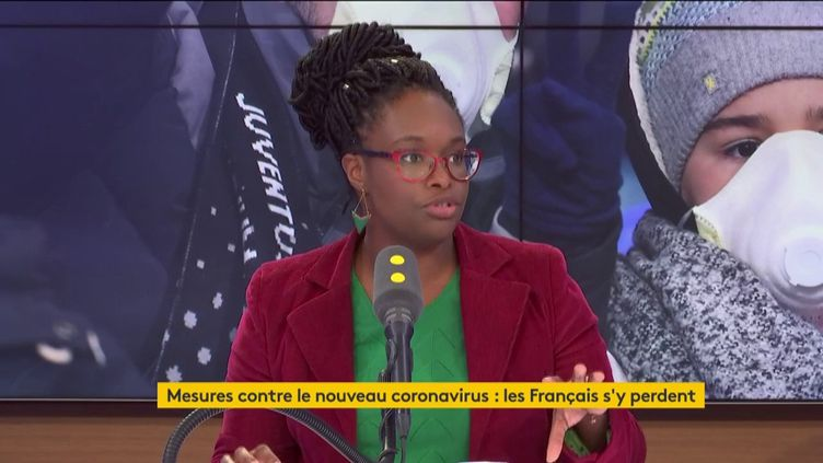 Sibeth Ndiaye était l'invitée de franceinfo lundi 2 mars. (FRANCEINFO / RADIOFRANCE)