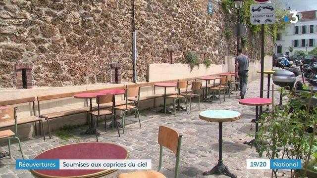 Déconfinement : une réouverture des terrasses sous la pluie dans certaines régions