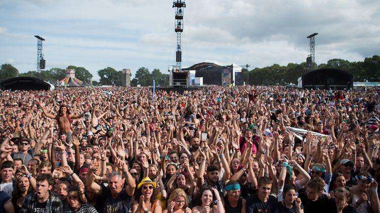 Les spectateurs du festival Les Vieilles Charrues à Carhaix(Finistère), le 21 juillet 2019. (LOIC VENANCE / AFP)