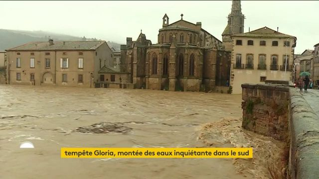 Tempête Gloria : alerte rouge dans l'Aude et les Pyrénées-Orientales