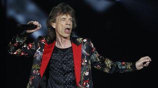 Mick Jagger sur scène avec les Stones au U Arena le 19 octobre 2017.  (Patrick Kovarik / AFP)