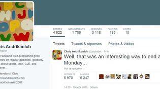 Capture d'écran du compte Twitter deChris Andrikanich, alias @alphabet. (TWITTER)